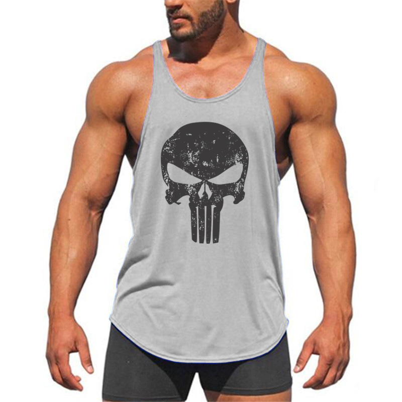 Muscleguys Brand Animal Gyms Singlets Mens Tank Tops Shirt Beast skulls Bodybuilding Equipment Fitness Stringer Tanktop Clothing