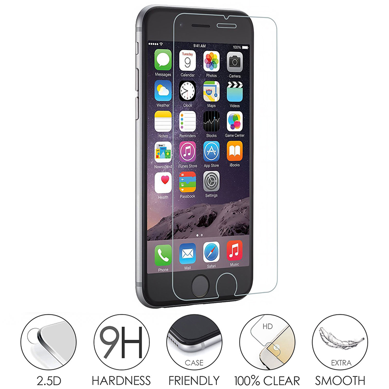 GPNACN 9H 2.5D Premium Screen Protector For iPhone X 8 7 6 6s Plus 5 5s SE Safety Protective Tempered Glass For iPhone 8 7 6 6S
