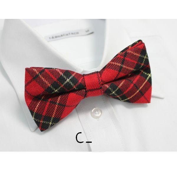 HOOYI 2018 cotton plaid butterfly mens bow tie