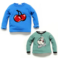 BBK Children's Hoodies Casual sweatshirt velvet thicken T-shirt cherry Cartoon Popeye pattern baby boys&girls shirt outwear Tops