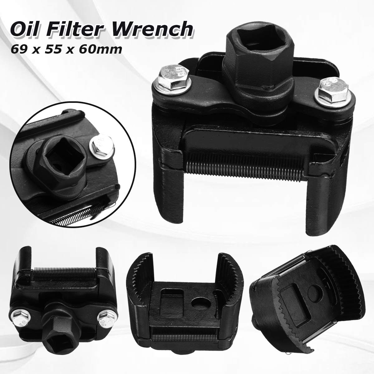 60-80mm Adjustable Two-claw Filter Wrench Oil Filter Wrench Housing Spanner Remover 1/2'' 901 915 cap oil filter wrench 1 2 square drive oil filter removel tools filter socket wrench spanner hand tool