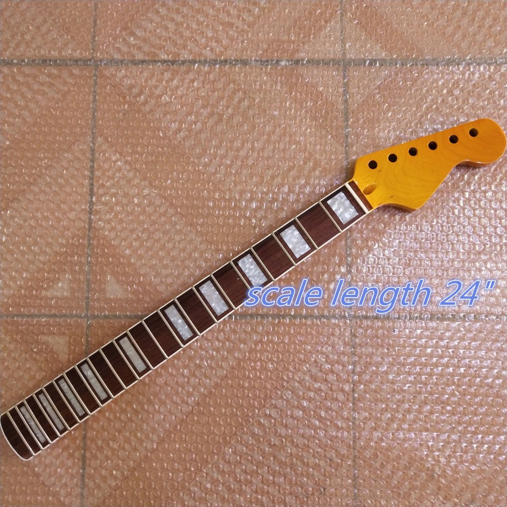 24 inchs scale length Maple 22 frets guitar Neck Rosewood Fingerboard
