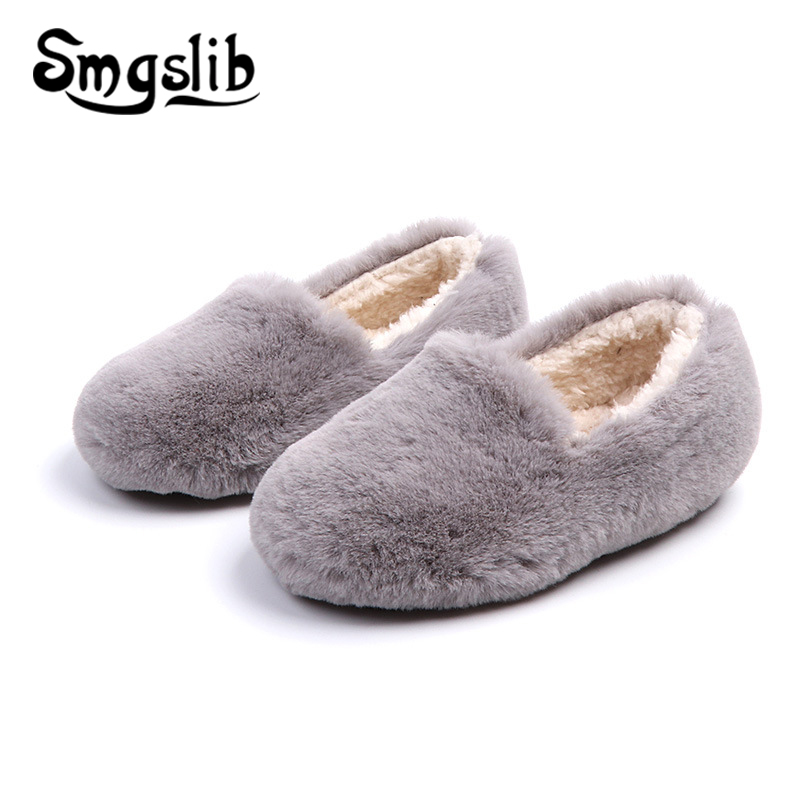 Children Shoes Girls Casual Sneakers Baby Boys Plush Kids Loafer 2019 Autumn Winter Flat Toddlers Slipper Dropshipping