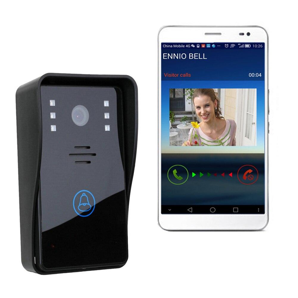 ФОТО Black ENNIO Video Door Phone WiFi Doorbell Remote Video Camera Rainproof Video Intercom Camera Remote Network Home Building
