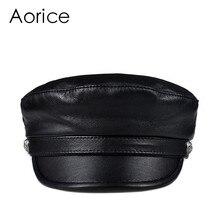 Aorice man winter warm cap hat 2018 new boy school caps beret baseball hats black color