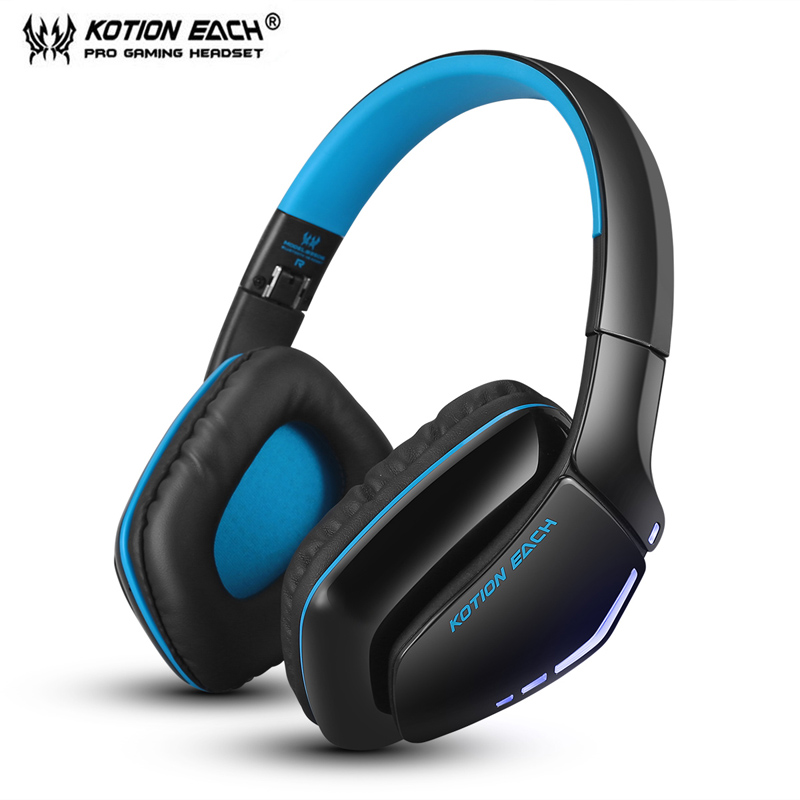 ФОТО KOTION EACH B3506 Bluetooth Headphones Wireless Stereo Gaming Headset with 3.5mm Cable Mic for PS4 PC Smartphones Computer game