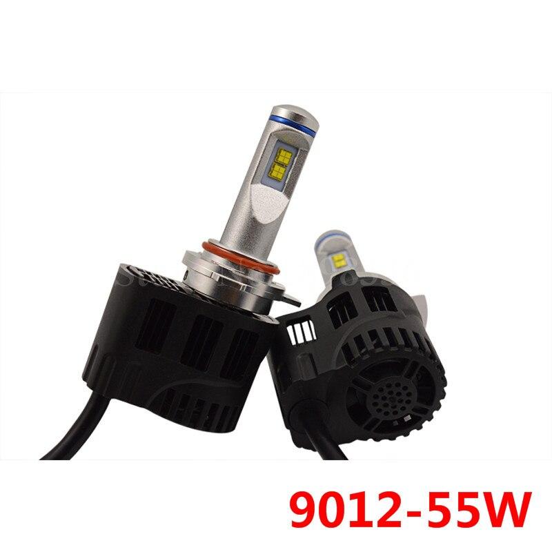 ФОТО 2 pieces Energey Saving P6 9012 55W Car Headlight LED Bulb 5200LM 3000K 4000K 5000K 6000K Luxeon MZ Car LED CHIP