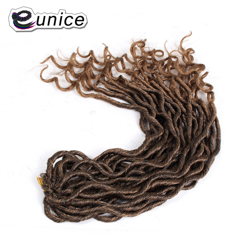 Faux Locs Curly Heat Resistant Synthetic Hair Extensions (10)