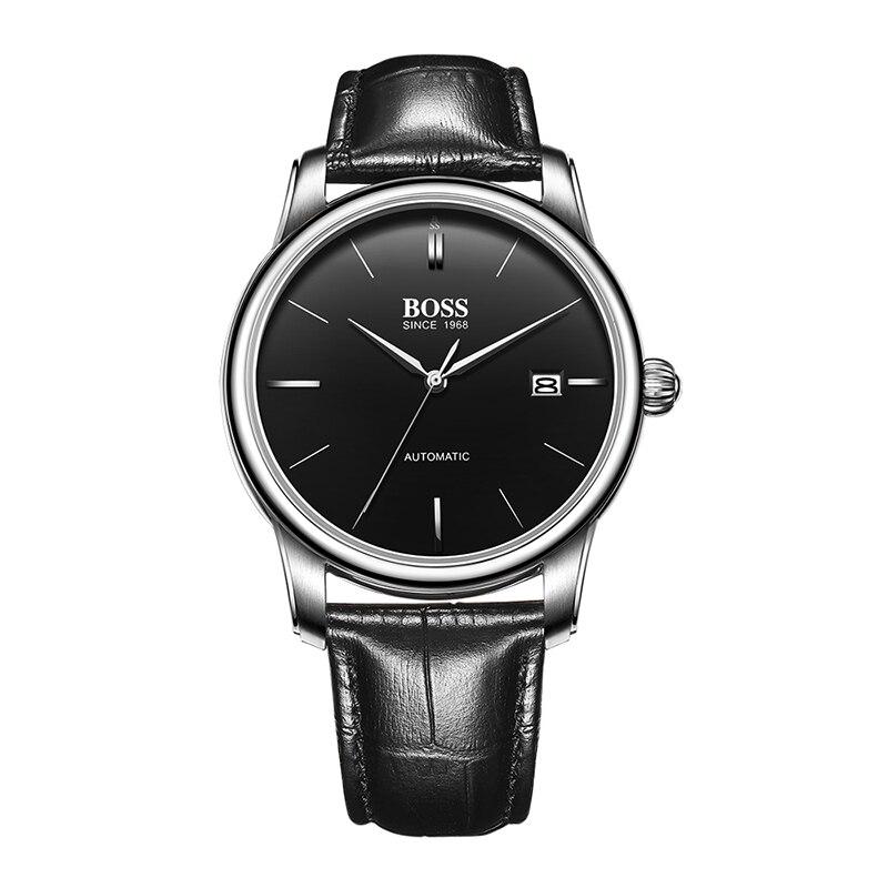 BOSS Germany watches font b men b font luxury brand counter genuine business Super thin MIYOTA