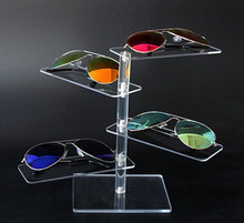 Multifunction 4-layer Acrylic Sunglasses Display Rack Shelf Eyeglasses Showing Stand Jewelry Desktop Bracelet Necklace Holder недорого