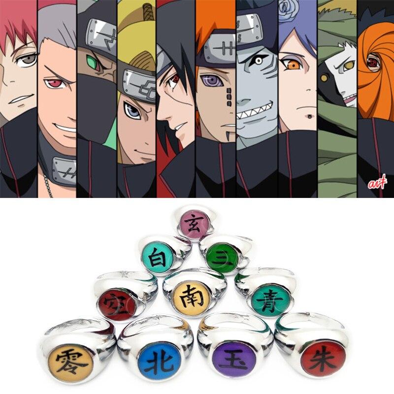 Japanese Anime NARUTO Akatsuki Members Rings Hidan Cosplay Three Ring Gift