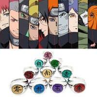 10 stil Anime Naruto Cosplay Ringe Akatsuki Sasori Itachi Uchiha Hidan Deidara Pein Konan Orochimaru zubehör Prop HOKAGE