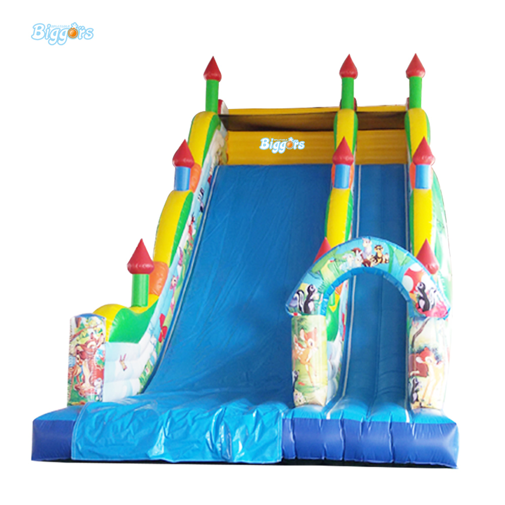 Free Shipping Commercial PVC Kids Inflatable Amusement Park Giant Inflatable Slide For Sale 6 4 4m bounce house combo pool and slide used commercial bounce houses for sale