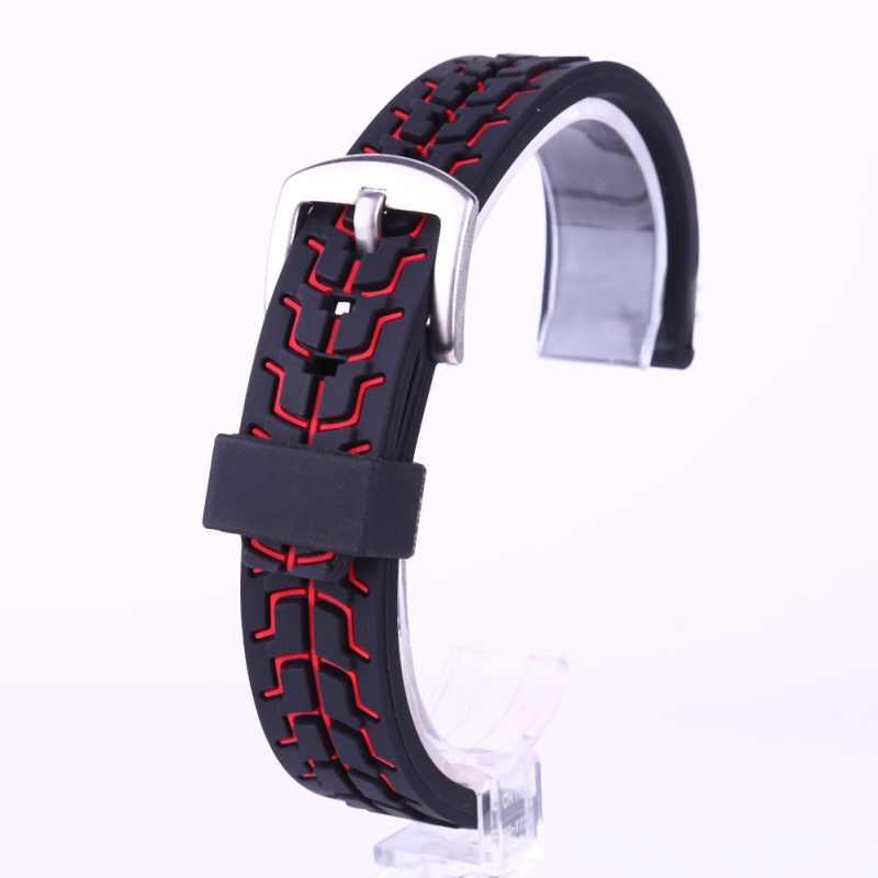 Sports de plein air vêtements de protection réunis montre avec araignée créative-homme maille maille silicone couleur correspondant sangle