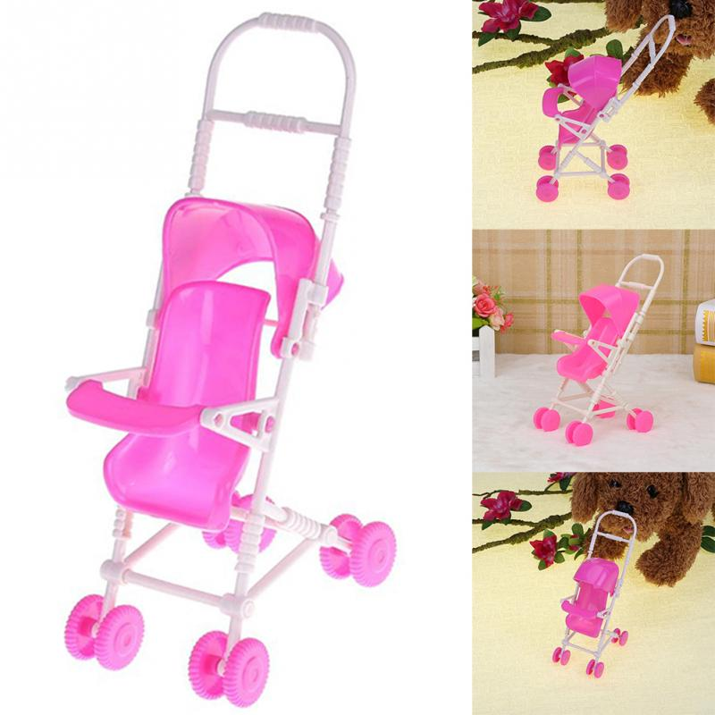 troller Playing House Tool Doll Trolley Baby Gift Cute Pink For Barbies Doll Acc