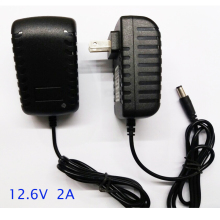 1 шт. быстрое умное и интеллектуальное зарядное устройство 12,6 в 2 а для литий-ионного аккумулятора 12 В 11,1 В для литий-ионного аккумулятора