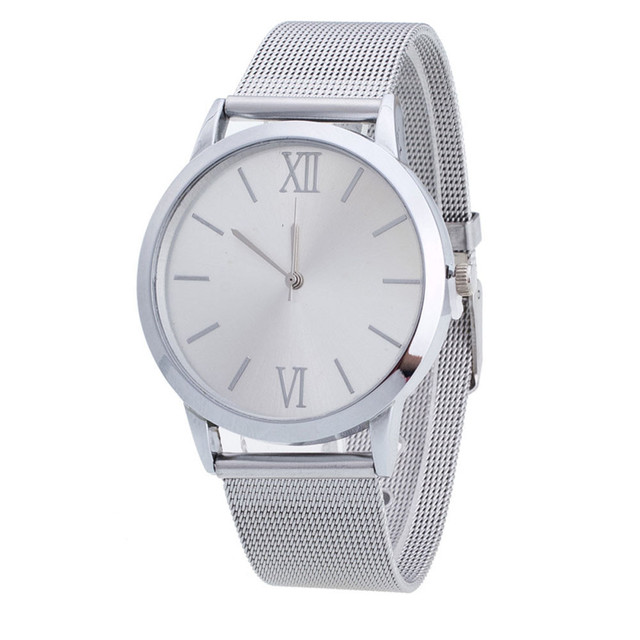 Hot Sale Lovers' Simple Watches for Women's Men's Top Brand Luxury Stainless Ste