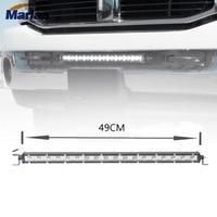 1pcs Marlaa 20 Ultra Slim 54W High Power LED Light Bar Super Slim 54w spot 12v 24v car offroad truck 4X4 ATV led Driving lamp