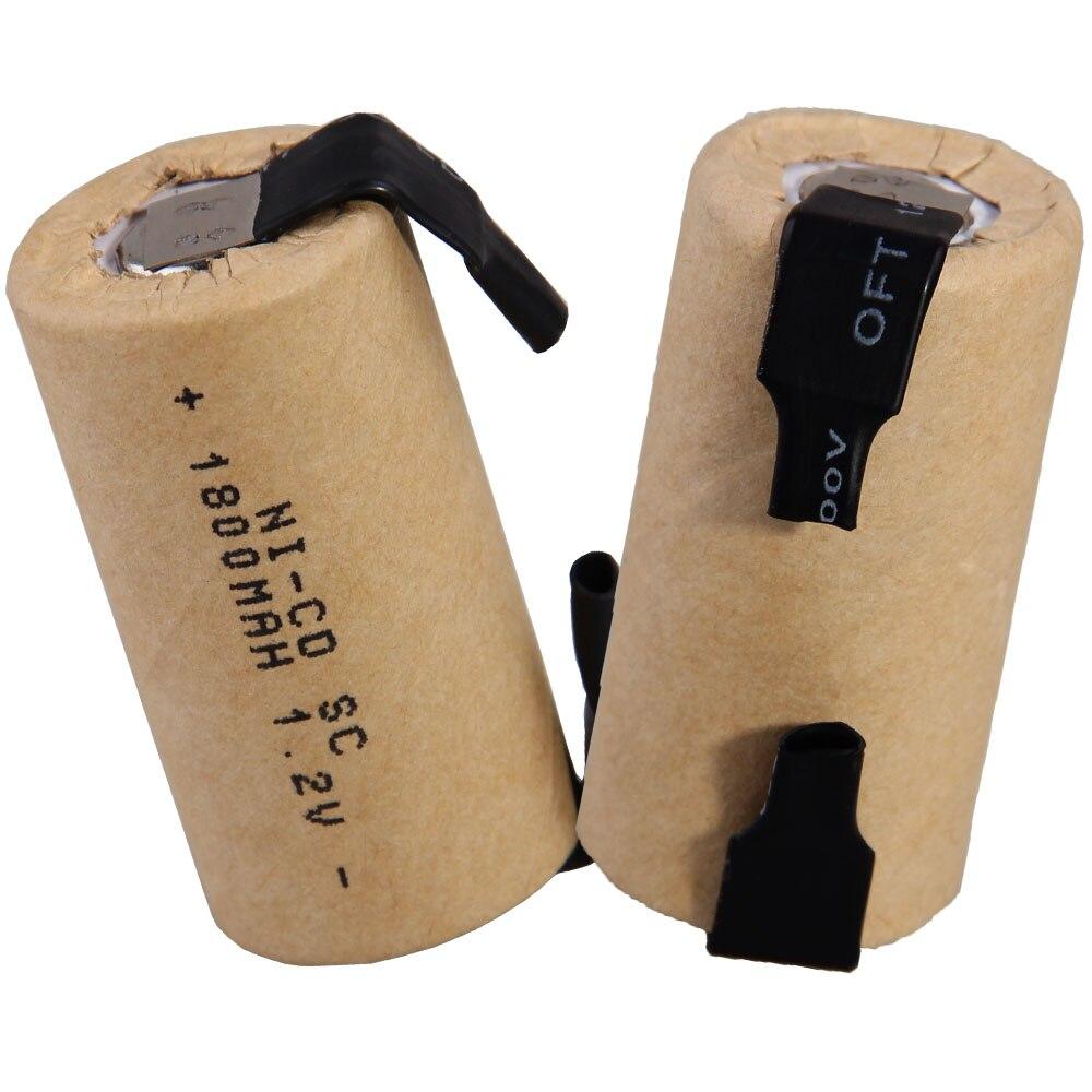 O mais baixo preço 2 peças sc bateria 1.2v baterias recarregáveis 1800 mah nicd bateria para ferramentas elétricas akkumulator