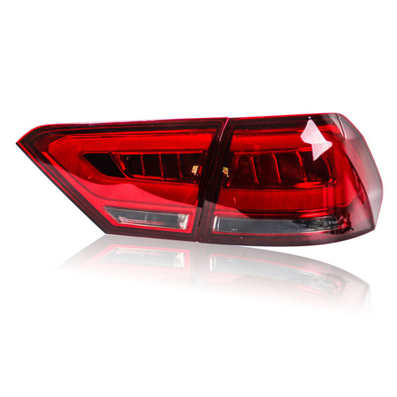 Ownsun  LED DRLs+Brake Lights+Reversing Lights+Turn Singnal Car Rear Taillights Tail Lamps For Volkswagen Lavida 2013-2014 automotive halogen lamps tail lights rogue reversing lights brake lights beep sound the alarm lamp