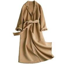 7fc2a7d79be10 KMETRAM Women Winter Wool Long Coat Jackets Abrigos De Mujer Elegantes Ropa  Invierno Mujer 2018 Ladies