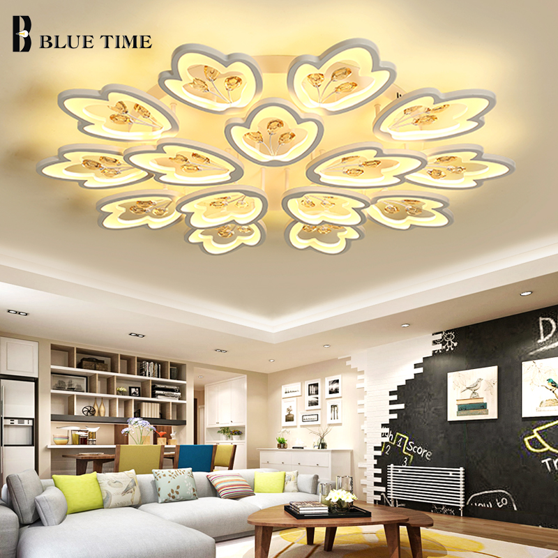 Best Modern Led Crystal Chandeliers For Living Room Bedroom Acrylic Chandelier Lights Home Lighting Fixtures Ac110 260v