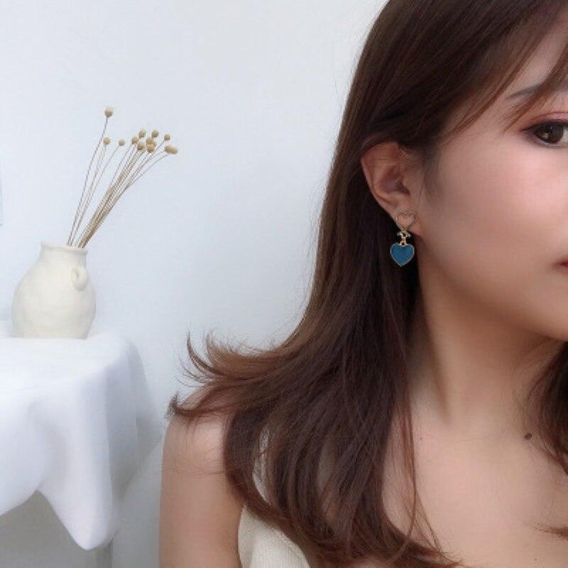 2019 New Hot Sale Heart Shape Earring Metal Zinc Alloy Drop Earrings For Women Girl Fashion Jewelry Gifts in Drop Earrings from Jewelry Accessories