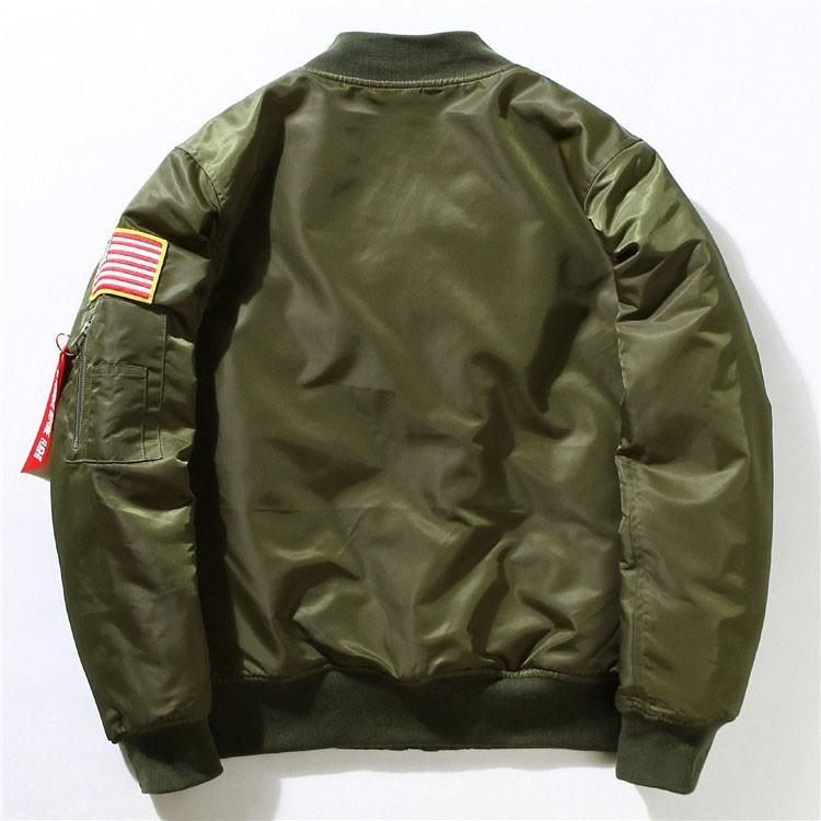 Men Bomber Jackets Flight Pilot Jacket Coat Nasa Air Force Embroidery Baseball Uniform Military Style Coats Army Green Black (11)