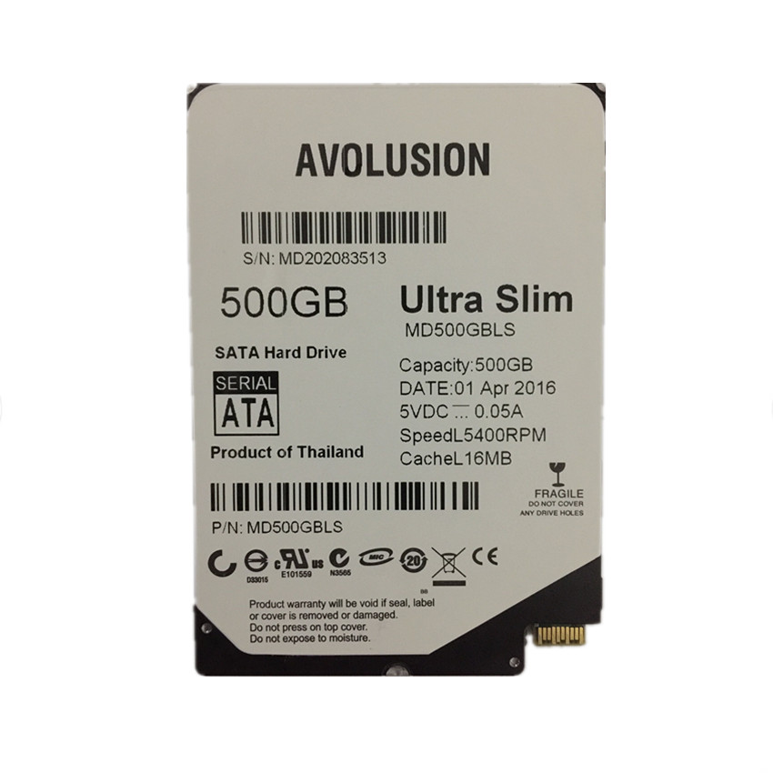 500 gb 2,5 inch UltraSlim 5MM 16MB 5400RPM SFF-8784 SATA - Computer componenten - Foto 1