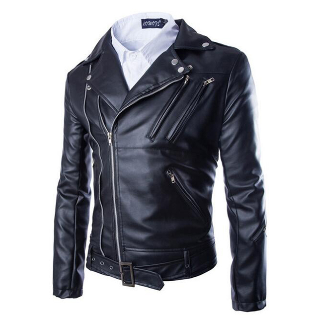 Hot Sale Autumn Winter PU Zipper Suede Faux Leather Coat Punk Long Sleeve Motorcycle Jackets Hip-Hop Biker Swag Jacket