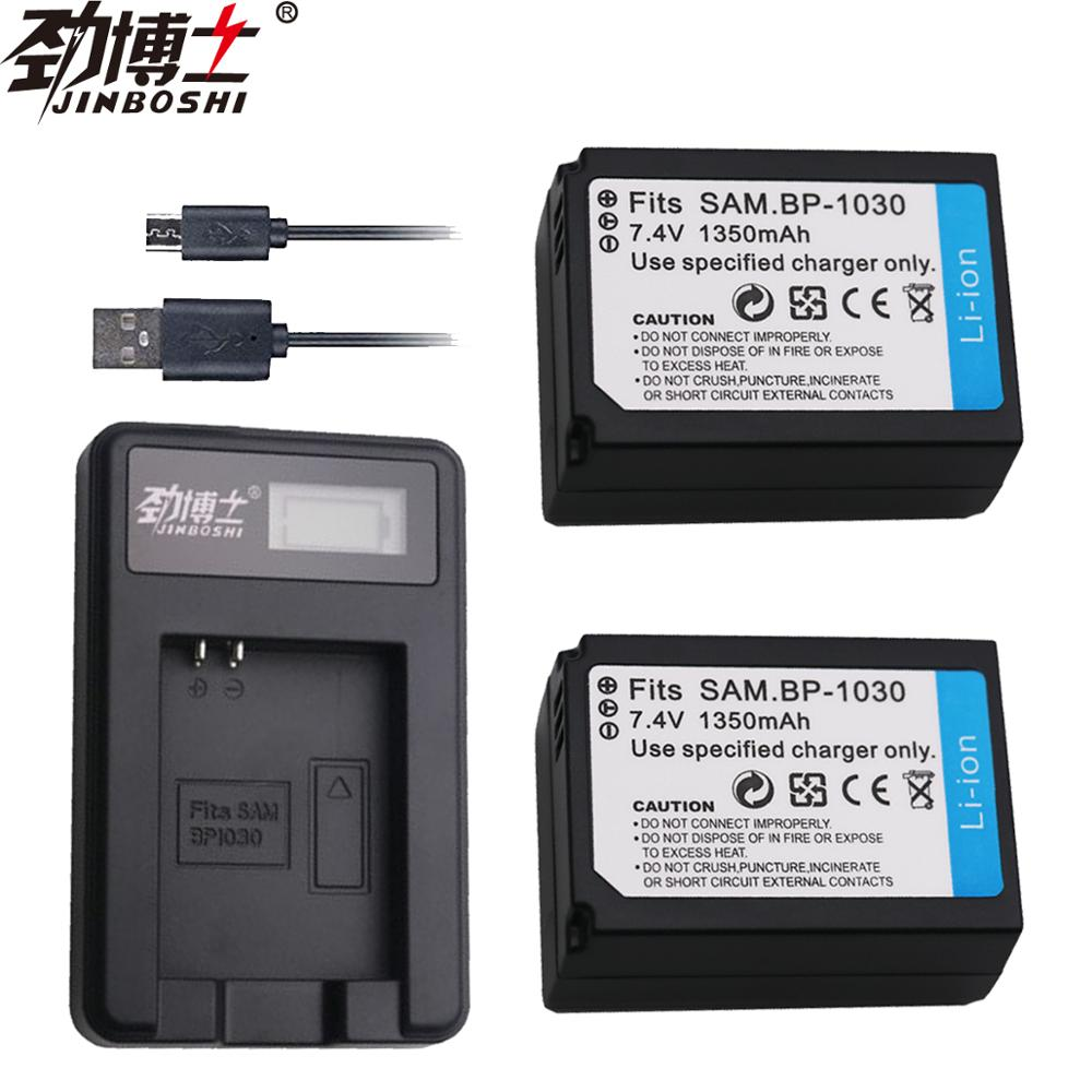 2pcs BP1030 BP 1030 BP-1030 Li-ion Battery +LCD USB <font><b>Charger</b></font> for <font><b>Samsung</b></font> NX1100 NX-300M NX300 NX500 <font><b>NX1000</b></font> NX200 NX210 camera image