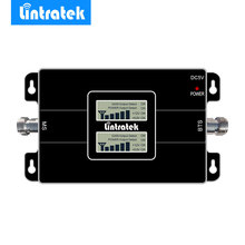 Lintratek novo lcd duplo exibe 3g gsm repetidor de sinal celular 900 mhz umts 2100 mhz 2g 3g faixa dupla telefone celular sinal impulsionador