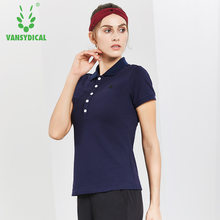 Vansydical Sports Polo Shirts Tops Women's Golf Shirts Short Sleeve Cotton Breathable Outdoor Workout Tennis Golf Jerseys(China)