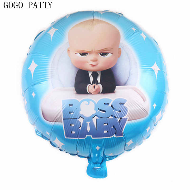 GOGO PAITY New 18 inch round boss aluminum balloon child festival baby birthday party decoration balloon wholesale
