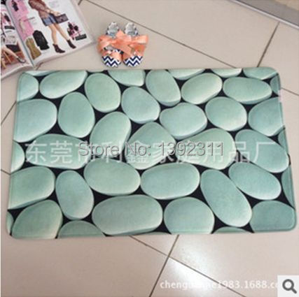 Top Sale New Style Home 50x80cm Carpet Tapete Modern 3d Cobble Printing  Carpet Mat Rugs Tapetes