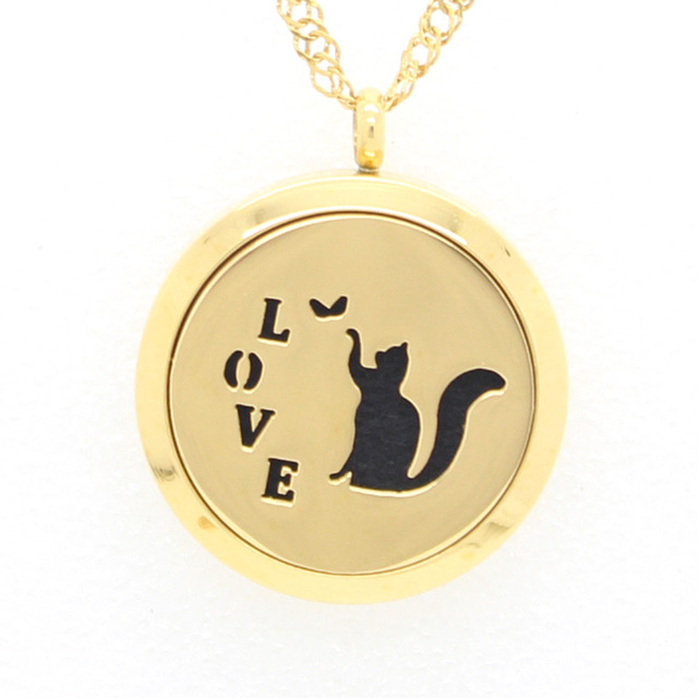 silver lockets suteyi images locket paw pet frame memory jewelry photo cat footprint gold color dog necklace pendant search
