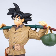 Dragon Ball Z Goku PVC Action Figure DragonBall BWFC2 Militar Super Anime DBZ Son Goku Estatueta Coleção Brinquedos Modelo 19 cm(China)