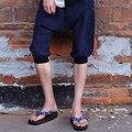 O verão de 2017 novos designers independentes marca ultra-fina largas calças cinco calças calças virilha calças harém Dos Homens baixo