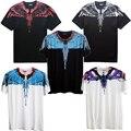 Marcelo Burlon T Shirt Roupas RODEIO REVISTA Marcelo Burlon Asas Das Mulheres Dos Homens de Moda T-Shirt de Alta Qualidade T-Shirt