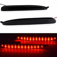 2 X Black Smoked Lens LED Bumper Reflector Tail Brake Stop Light For 03 08 Mazda 6 Light Car Led Free Shipping