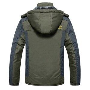 Image 3 - Winter Männer Jacken Dicke Warme Mit Kapuze Mantel Männer Im Freien Outwear Wasserdicht Lässig Inneren Fleece Jacken Plus Größe Thermische Jaqueta
