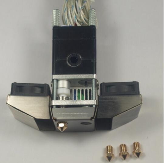 Blurolls new ultimaker 2 Extended + Olsson Nozzle hot end assembly kit print head kit UM2 + 3D printer parts 1.75/3 mm horizon elephant blurolls um2 ultimaker 2 3d printer accessories cross slider chimera 2 colors outet hotend print head full kit
