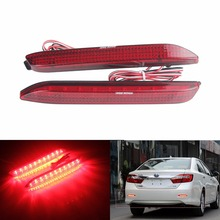 ANGRONG 2x Red LED Rear Bumper Reflector Brake Reverse Light For Toyota Harrier Lexus GX470 IS (CA189)