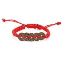 40d6a95cd12a08 Chanceux Rouge Corde Cordes Chinois Antique Pièce À La Main perles  Shamballa Macrame Tressé Bracelet Cadeau