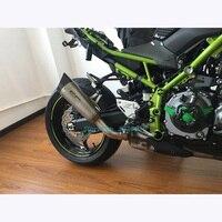 Для Kawasaki Ninja Z900 слипоны выхлопных газов только мотоцикл изменение Глушитель Трубы Escape с сеткой Нержавеющаясталь углерода