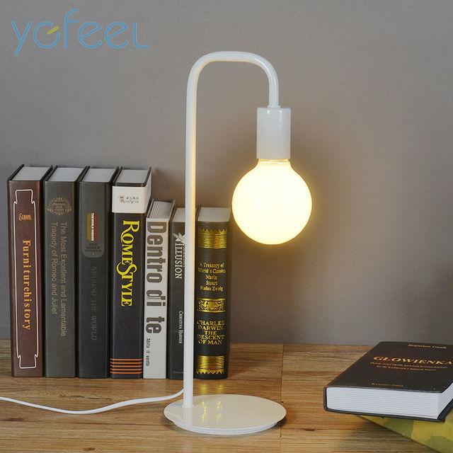 Lâmpadas de mesa de Cabeceira Quarto Lâmpada de Mesa de Leitura Iluminação Noturna Crianças Aprendizagem Luz Simples Processo de Pintura de Moda De Metal De Ferro