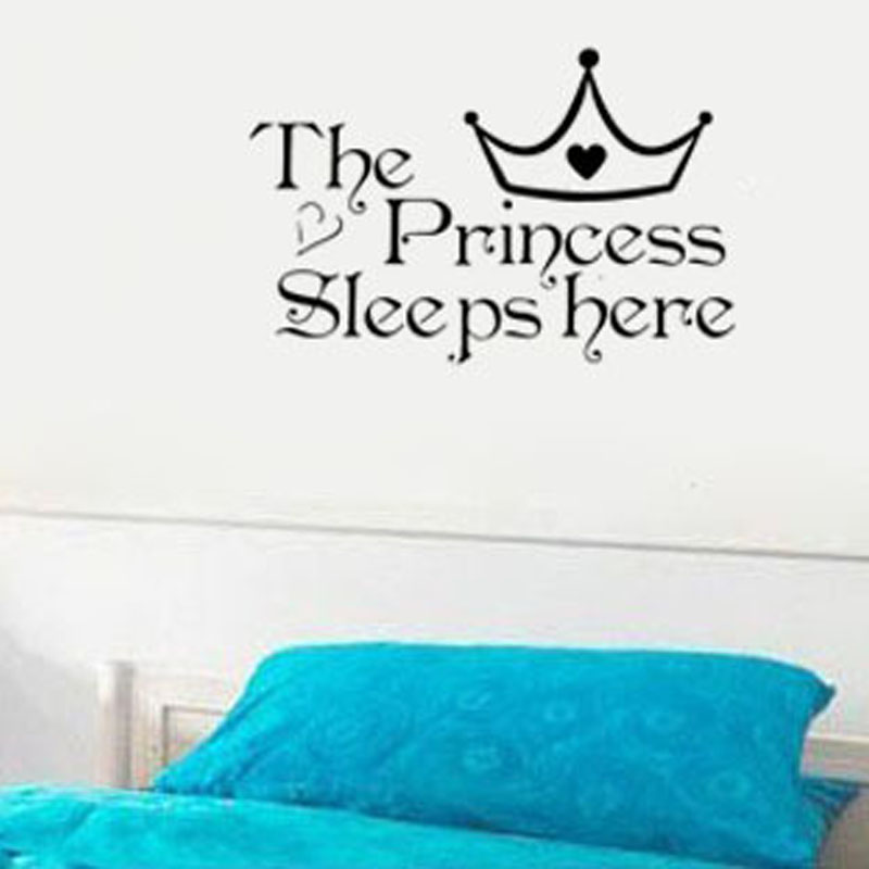 Princess Home Decoration Removable Wall Sticker Girls Bedroom Decor Baby  Room Decal Art  In Wall Stickers From Home U0026 Garden On Aliexpress.com |  Alibaba ...
