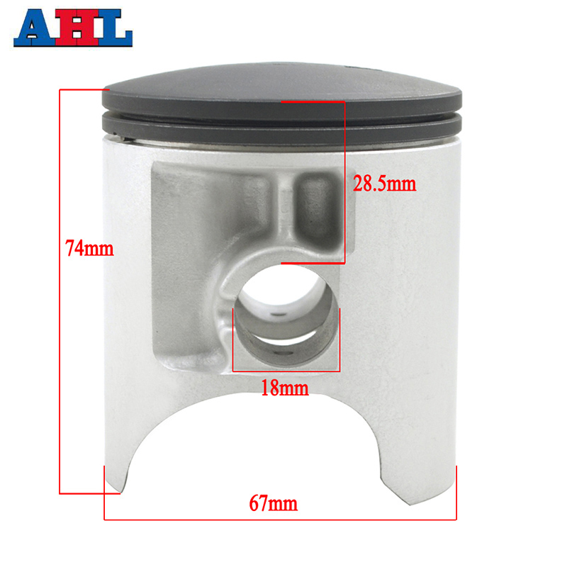 For <font><b>SUZUKI</b></font> RM250 1989 1990 1991 1992-1995 RMX250 1989-1999 Motorcycle Engine Part STD <font><b>Cylinder</b></font> Bore Size 67mm Piston & Rings Kit image