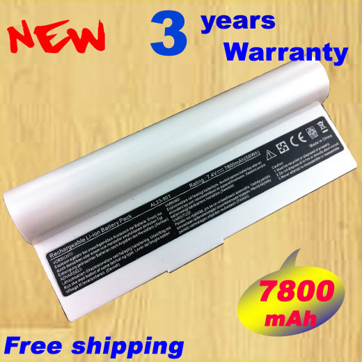 [Special Price] New laptop battery for Eee PC 901 904HD 1000 1000H 1000HD Series,Eeepc 901 AL24-1000 AL23-901, 6 cells White
