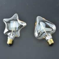 Bombilla incandescente de 40W con forma de estrella y corazón bombilla Retro clásica de filamento Vintage Edison, CA 220V, blanco cálido, E27